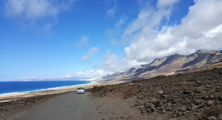 road to cofete beach fuerteventura