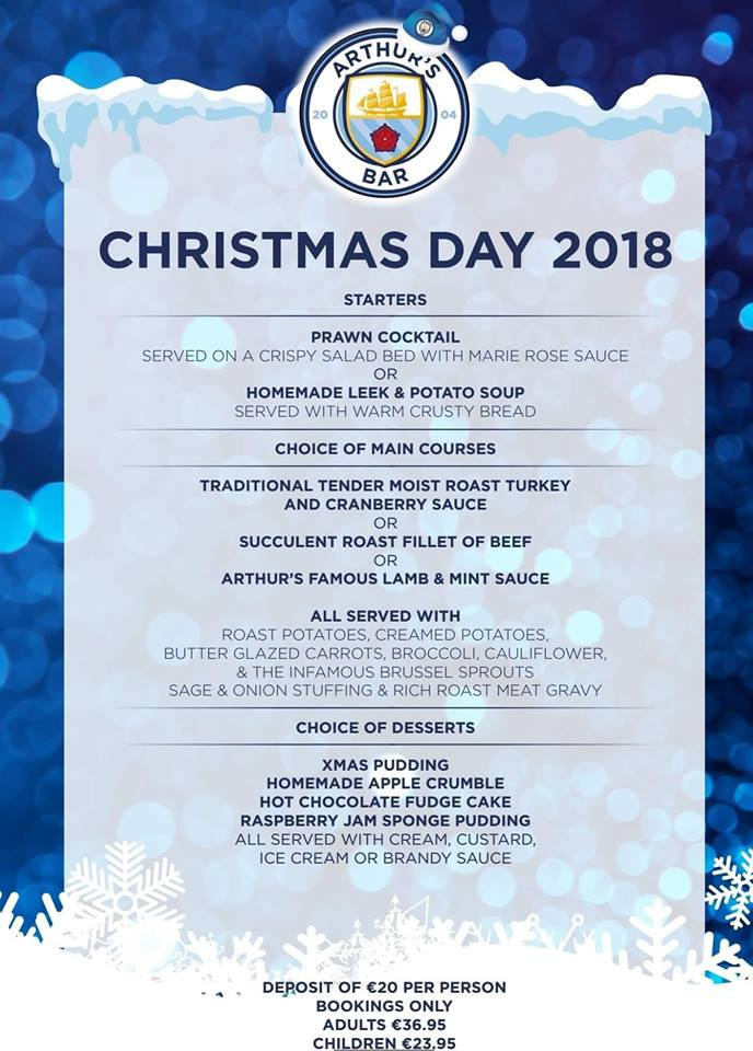 arthur-bar-lanzarote-christmas-menu-2018