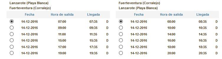 naviera armas schedule lanzarote to fuerteventura