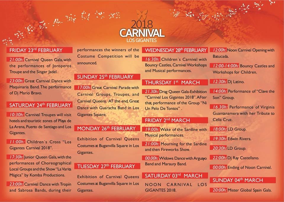 los gigantes carnival 2018