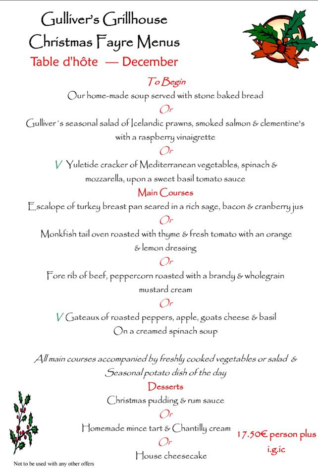 christmas-menu-gullivers-tenerife