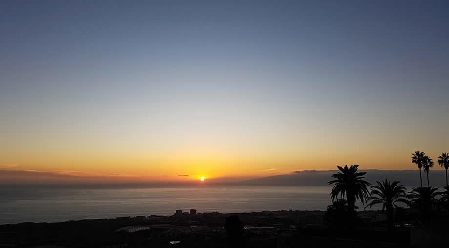 sunset tenerife winter