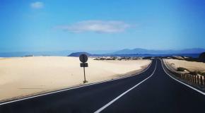 Road corralejo parque holandes fuerteventura closed