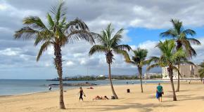 Playa reducto arrecife lanzarote