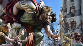 Las fallas de valencia spanish festival